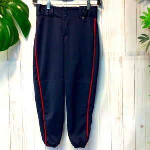 Teamwork Baseball Pants Navy with Red Lining